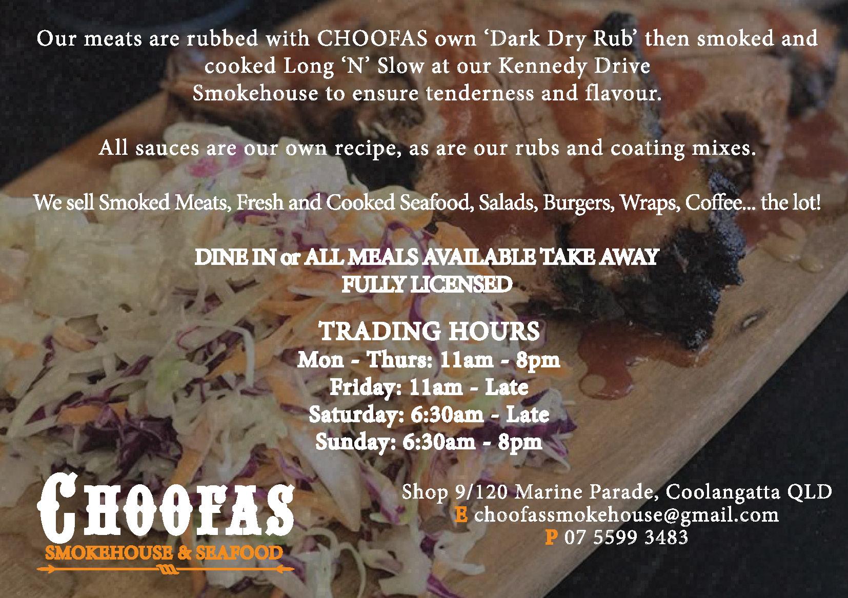 Choofas Smokehouse and Seafood